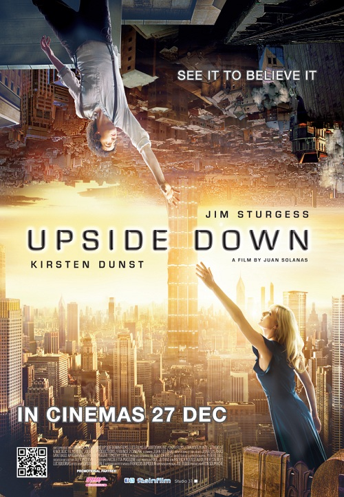 Theatrical Poster for UPSIDE DOWN - image source: Next Projection