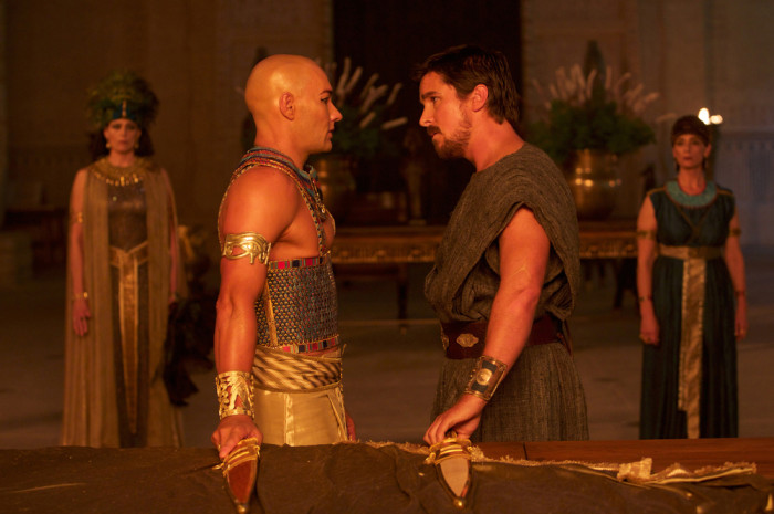 DF-01354 - Moses (Christian Bale, right) confronts Ramses (Joel Edgerton).